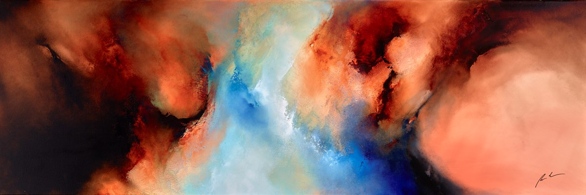 Fire and Brimstone by simon kenny -  sized 72x24 inches. Available from Whitewall Galleries